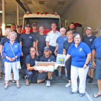 Firefighters gifted cupcakes
